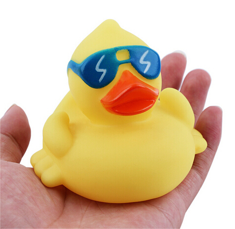 New pet dog toy product evade glue take sunglasses cool yellow duck pet toy free shipping(China (Mainland))