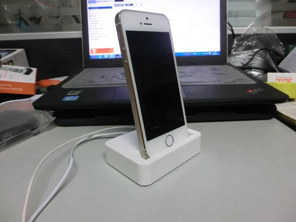 mobile phone dock chargers station for apple iphone 5 5s 5c power charge charging with 3 5mm. Black Bedroom Furniture Sets. Home Design Ideas