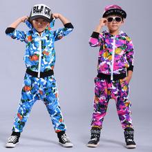 New fashion  Spring Autumn children's clothing set Camo Flower Print Costumes kids sport suits Hip Hop dance pant & sweatshirt(China (Mainland))