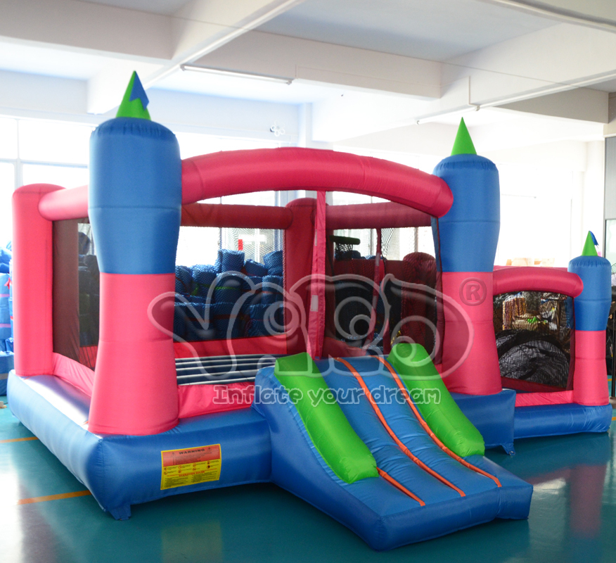 Family home use inflatable bouncy castle bounce house moonwalk jumper with ball pit<br>