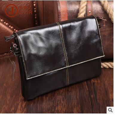2016 new men's genuine leather messenger bag cowhide leahter men day clutch bag high quality()