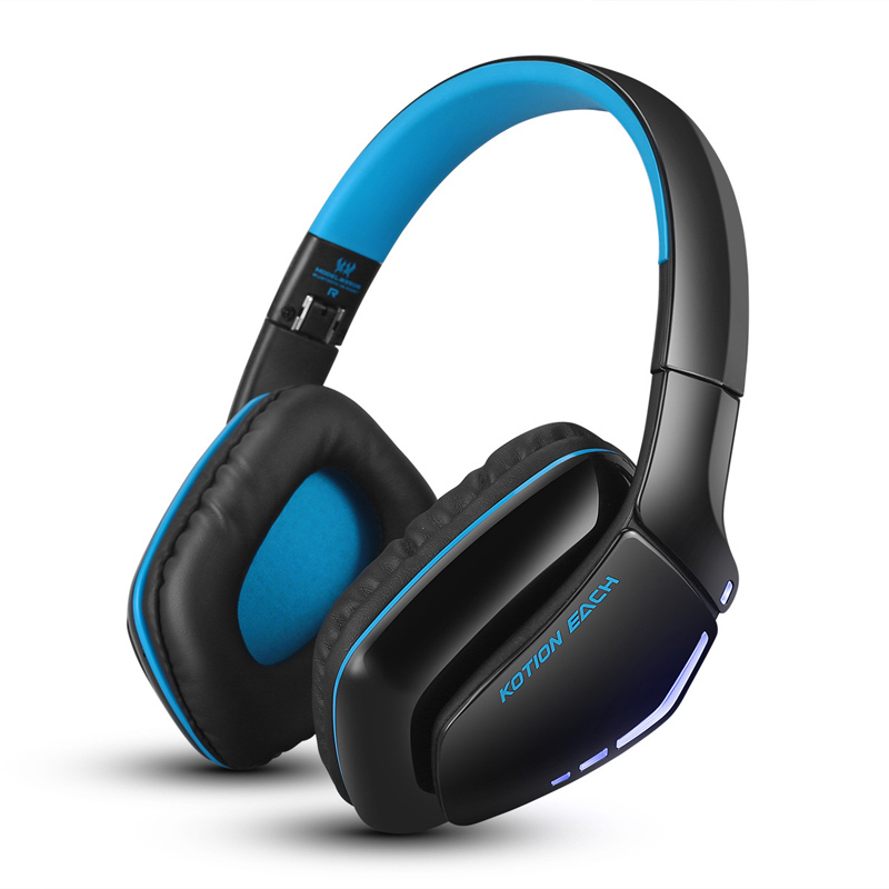 KOTION EACH B3506 Foldable Gaming Headset Wireless Bluetooth V4.1 Headphones with Mic for Sony PS4 PC Computers Mac Smartphones