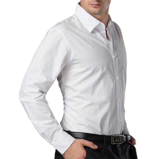 2016 белый черный синий красный мужчины рубашка британский стиль с длинными рукавами ...