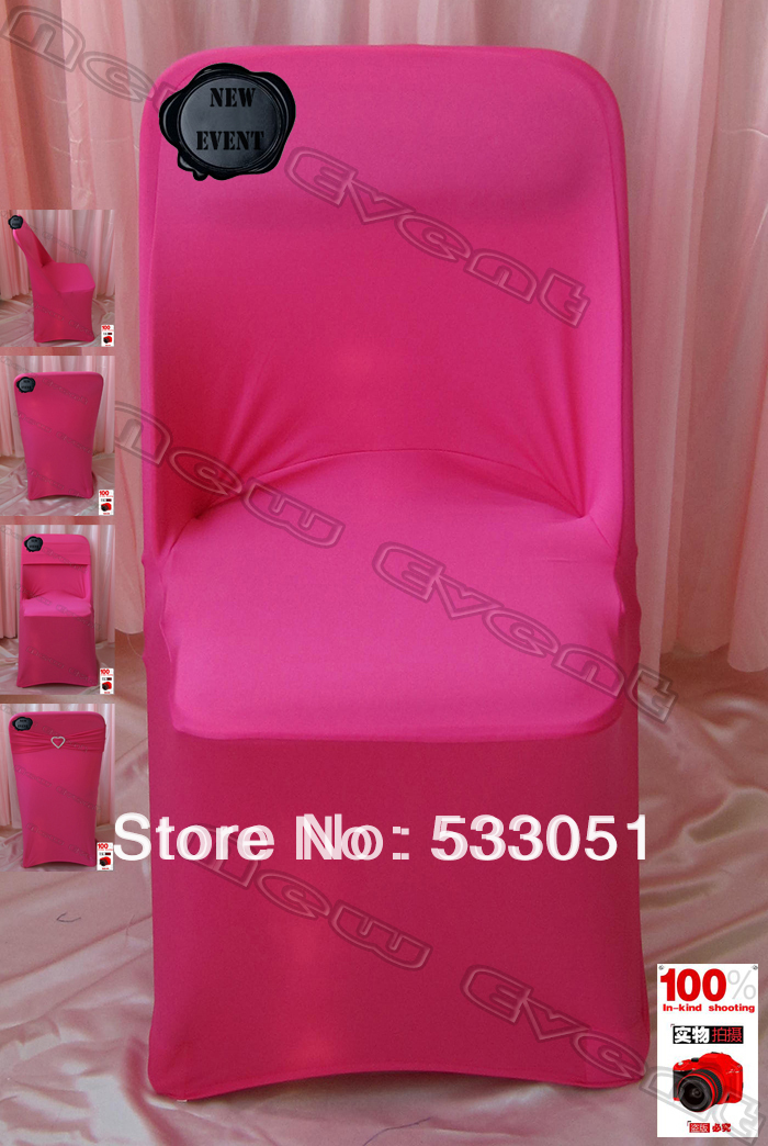 (210g/m2) Hot Pink (NO.36)Color Folding Spandex Chair Covers / Folding Lycra Chair Cover & Wedding Decoration & Party(China (Mainland))