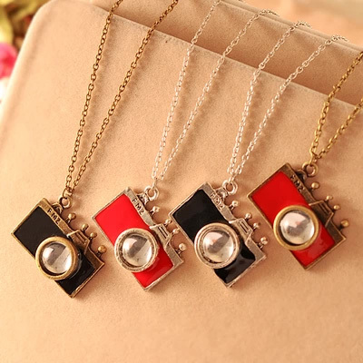 YP3534 Free Shipping Wholesale Jewellery New Fashion Camera Pendant Necklace Accesories for Women(China (Mainland))