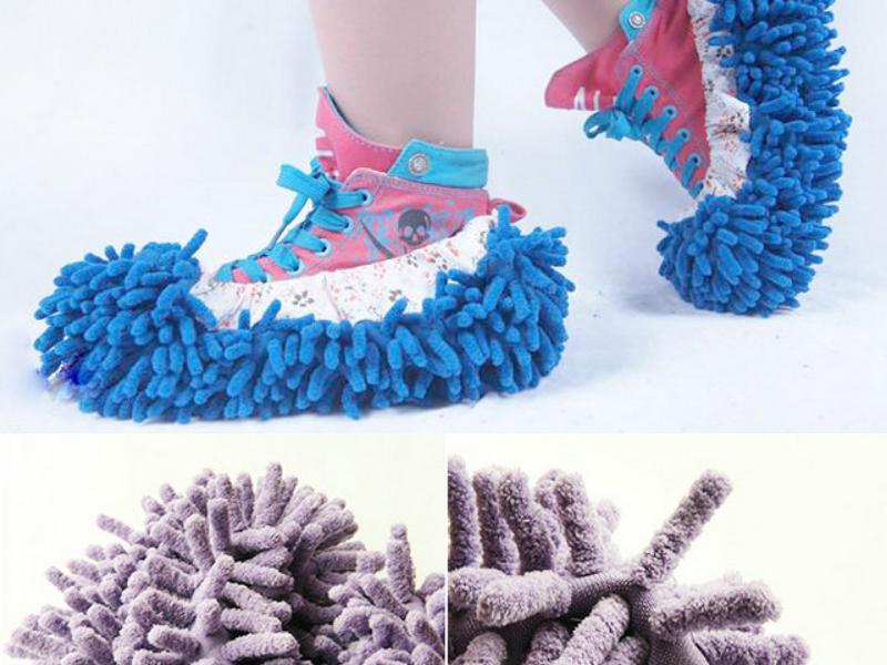 Mop Slippers Floor Polishing Cleaner x 4(China (Mainland))