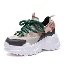 Nền Tảng Mới Sneakers Nữ Thời Trang Đế Dày Chạy Bộ Tăng Chiều Cao 8 Cm Chun Bụng Thể Thao Người Phụ Nữ Chaussures Femme(China)