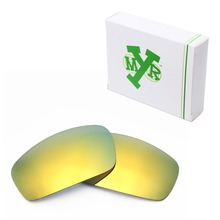 MRY POLARIZED Replacement Lenses for Oakley Monster Pup Sunglasses 24K Gold