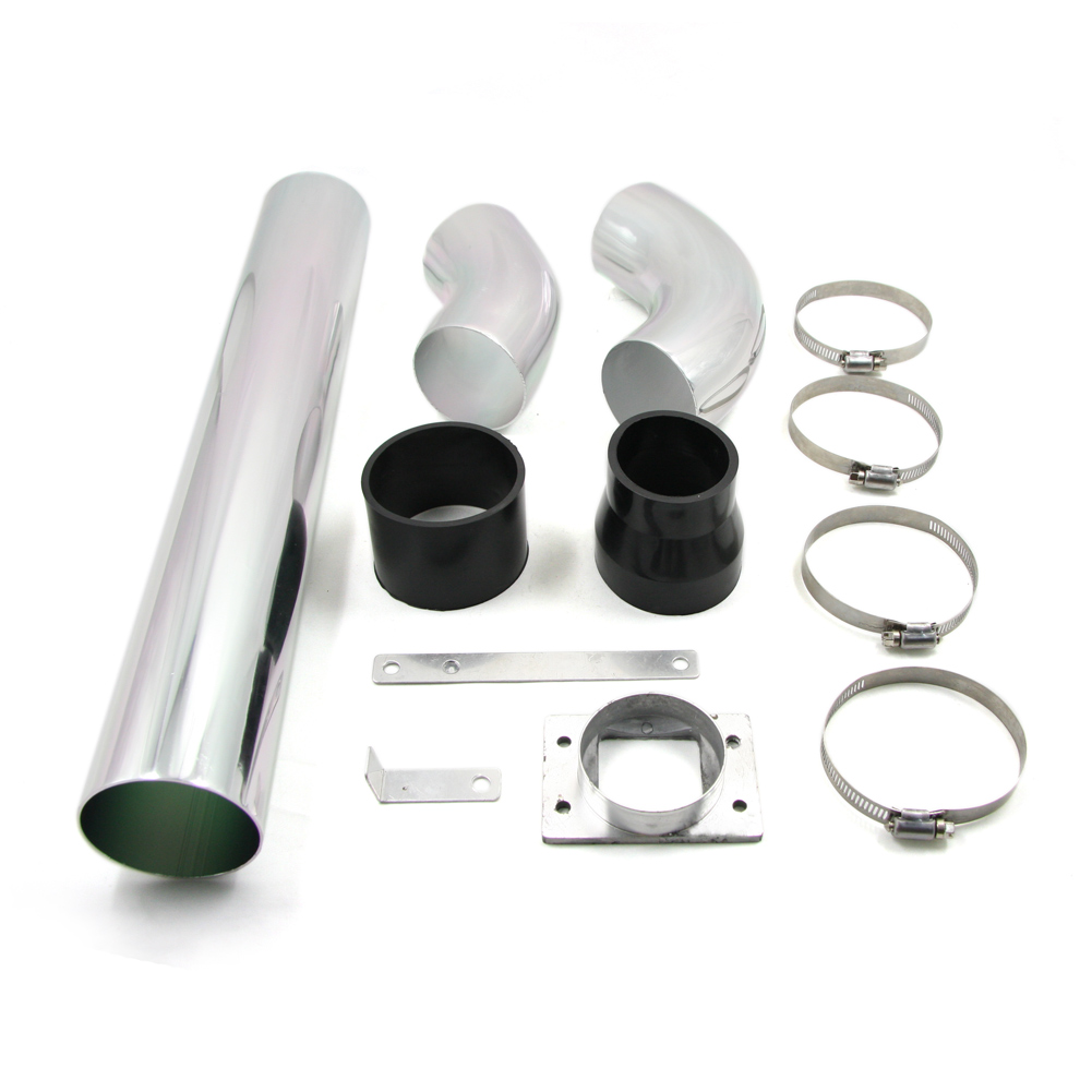 Universal Aluminum Car Air Intakes Tube Multiple Combined High-flow Air Intake Mounting kits 3''76mm Cold Air Intake System(China (Mainland))