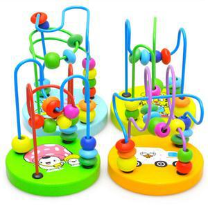 2014 New Novetly Educational Toy Hobbies/Colorful Baby Kids/Wooden Children Round Beads Toys - Click and Go LLC store