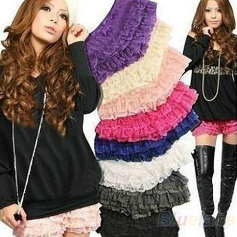 [해외]New Fashion Womens Girls Nice Safety 8 Layers Lace..