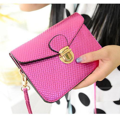 2015 new Women leather handbag women messenger bags shoulder bag Padlock bag small mini cheap Bag(China (Mainland))