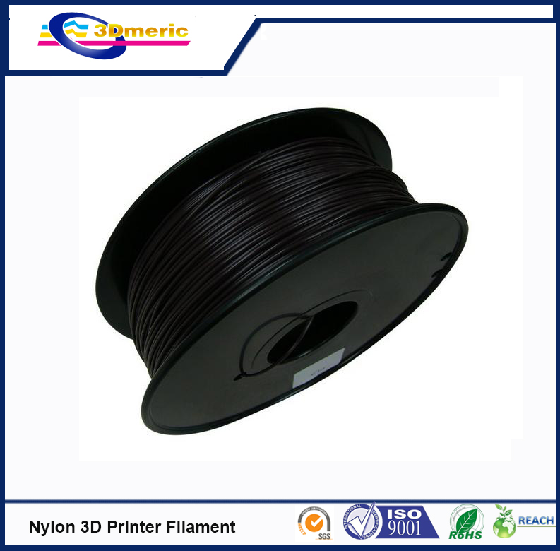 3D printer filament 1 75mm Nylon PA extruded plastic black 3D printer material high strength engineering