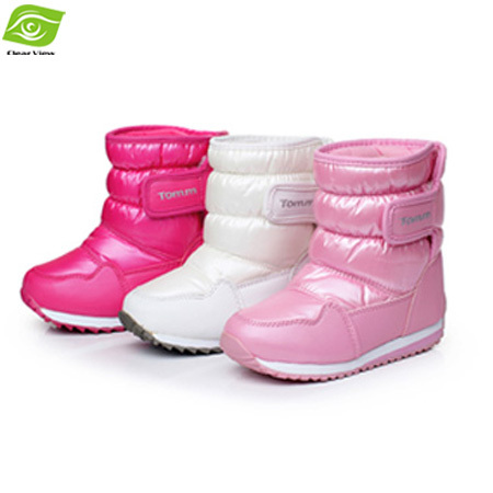 Winter New Fashion Snow Boots Girls Cindy Color Waterproof Winter Boots Girls Plush Lining Skidproof Warm