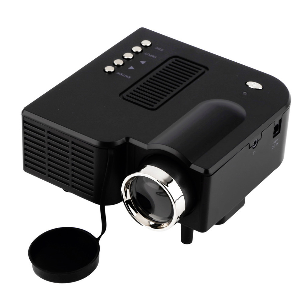 Uc28 unic portable led projector cinema theater pc laptop for Pocket projector hdmi input