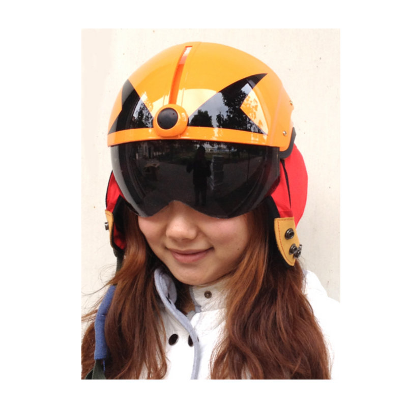 MASEI ORANGE SKULL AIR JET Helmet Pilots Flying Helmets Motorcycle Half Electric Bicycle Open Face Pilot Free - Excom Technology CO.,Limited store