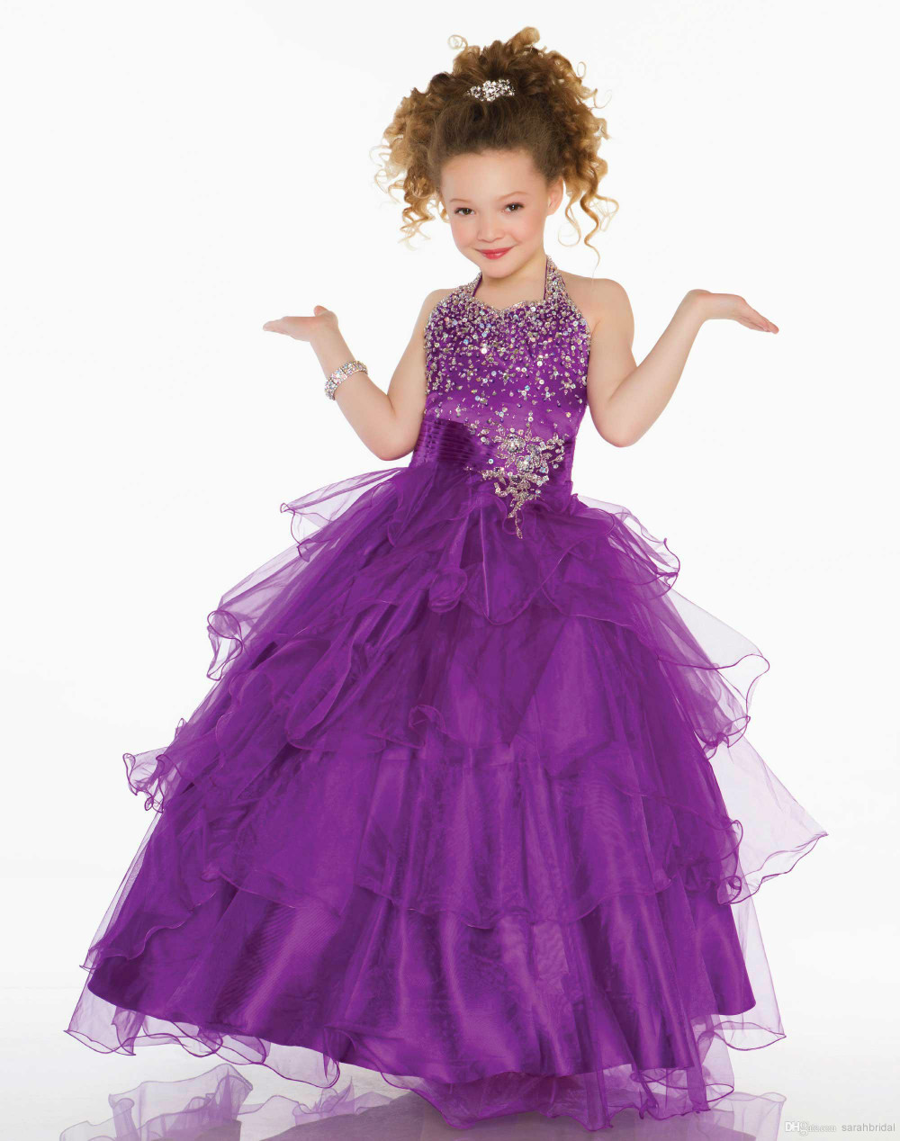 girl purple party dresses