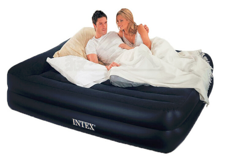 2016 new INTEX bed 152*203*47CM two person double air mattress 66720 inflatable bed, airbed ,camping mattress color box(China (Mainland))