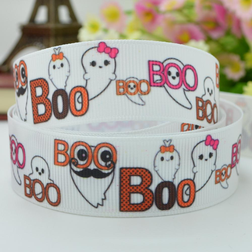"Halloween ghost card silk Luo with DIY oversees the butterfly ornaments 22mm print grosgrain ribbon 7/8"" cartoon grosgrain(China (Mainland))"