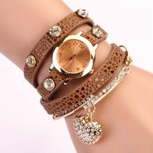 Hot Sale New Arrive Casual Luxury Heart Pendant Women Bracelet Wristwatches Women Dress Watches Fashion Watch