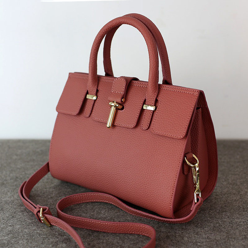 2016 Spring New Fashion Leather Women Shoulder Messenger Boston Bags Handbags OL Office Work Bag Purse