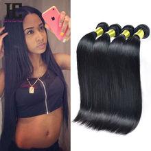 8A Brazilian Virgin Hair Straight  4 Bundles  Rosa Hair Products Human Hair Weave Unprocessed Mink  Brazilian Straight Hair HC(China (Mainland))