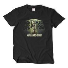Free Shipping New Fashion Mens Clothing The Walking Dead T Shirt Short Sleeve Top Tees Novelty Design Movie Play T-shirt
