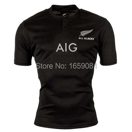 New Zealand All Blacks Rugby Jersey Shirt 2015 RWC All Blacks Men Rugby Jersey best quality jersey 2015 all blacks S-2XL(China (Mainland))