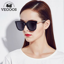 VEGOOS 2016 New Polarized Women Round Sunglasses Brand Designer Fashion Retro Polaroid Sun Glasses oculos de sol feminino #9073