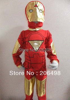 Halloween Party costumes 4- 8 years boy's  three-piece Iron man Role-playing kids cosplay,kid GHOST cosplay