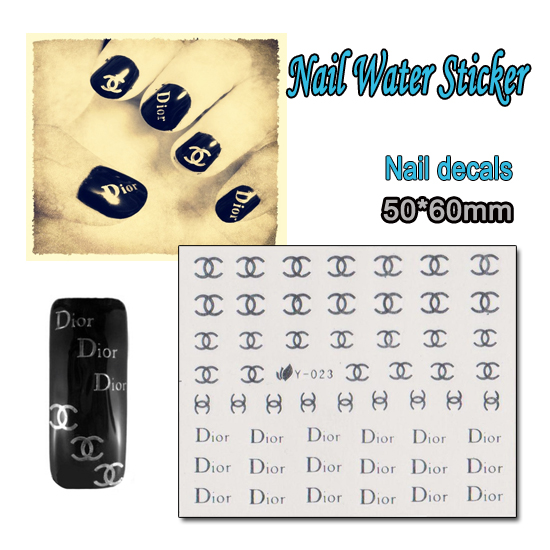 Nail 1 Sheet Silver C Beauty Brand Nail Art Water Transfer Sticker Decal Sticker For Nail