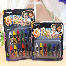 12/6 Colors Colorful Body Painting Crayon Oil Painting Makeup Pigment Kids Halloween Face Body Paint Set Face Painting Color Pen(China (Mainland))