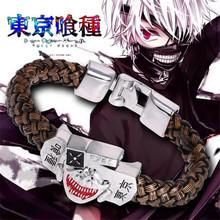 20CM Anime Tokyo Ghoul Alloy Mouth Mask Bracelet Metal Tokyo Ghoul Decoration Ornament Animation Action Figures Z204