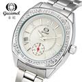 Fashion WatchesWith Diamond Quartz Wristwatches Leather Band GuCamel Brand Waterproof Women Black Blue Horloge Birthday Gift