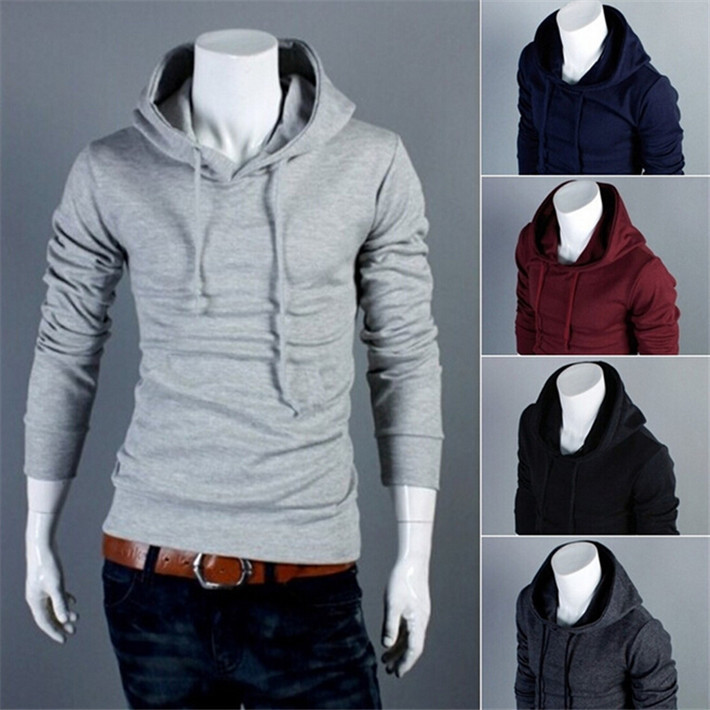 Cheap Sweatshirts Moletom Casaco Masculino Solid Casual Men Hoodies Drop Shipping MHD012(China (Mainland))