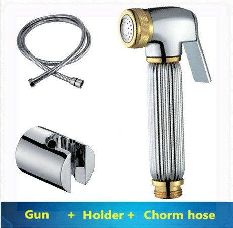Brass Bidet Spray Set Bidet toilet seat sprayer set brass spray gun+ABS holder+stainless steel shower hose wall mount sensor fau(China (Mainland))