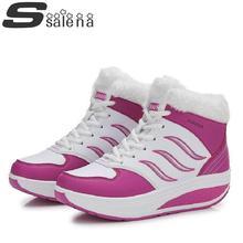Nuevo Invierno de Las Mujeres Calientes, Además de Terciopelo Botas de Nieve Cómodo Moda de Plataforma Zapatos de La Venta Caliente Tamaño 35-40 # B778(China (Mainland))