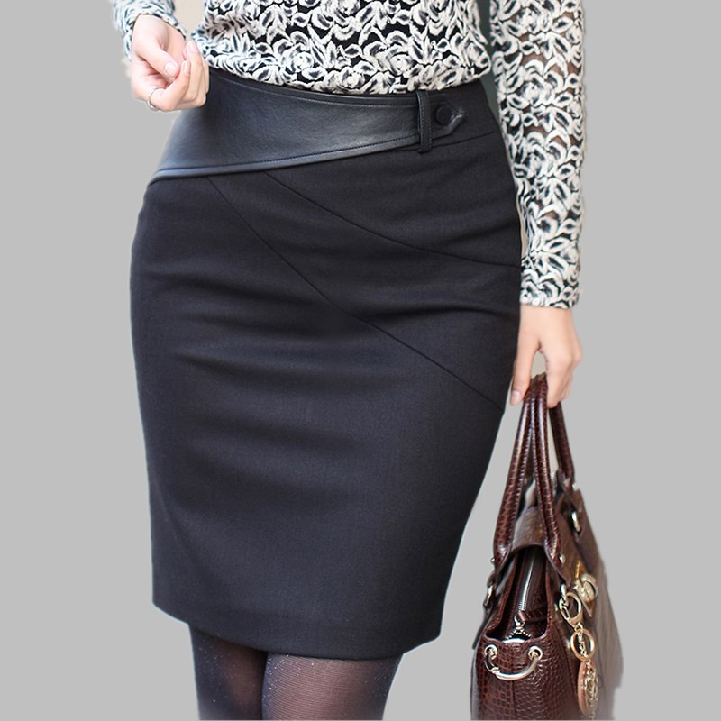 2015 autumn winter skirt plus size skirt high waist