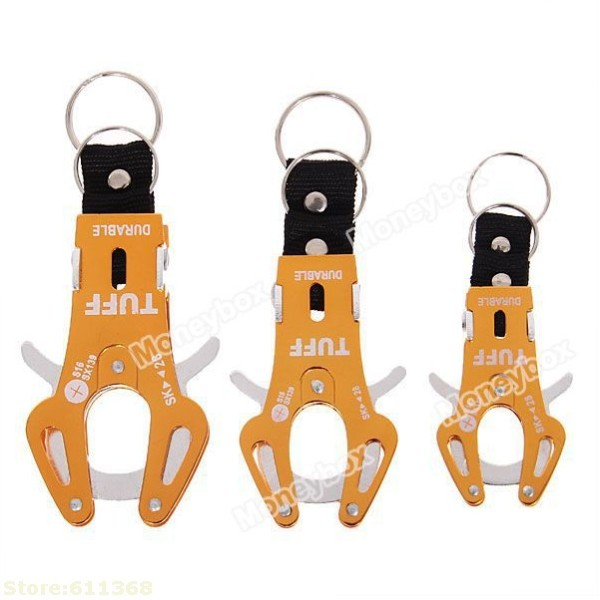 Promotion Good   Large Size Portable and Functional Aluminum Alloy Tiger Buckle for Mountaineering (Orange)