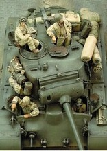 1/35 Scale WW2 American tank crews four WWII Figure Resin Model Kit Free Shipping(China (Mainland))