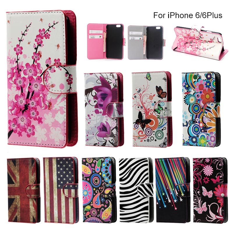 ForApple iphone 6 4 7inch Butterflies Flower Leather font b Mobile b font font b Phone