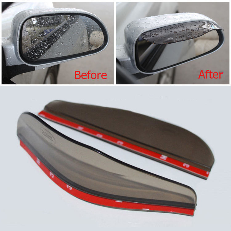 Pair Awnings Shelters Universal Rear View Black Side Mirror Rain Snow Shield Set For Car Truck Free Shipping(China (Mainland))