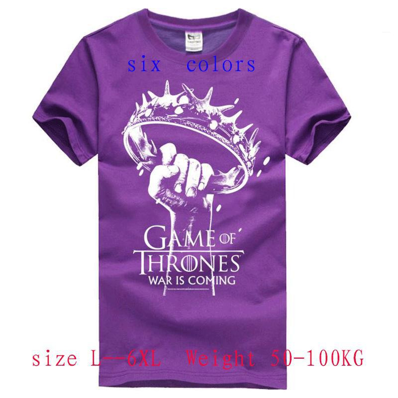 2015 new summer style t shirt men 100%Cotton shirts game of thrones t-shirts(China (Mainland))