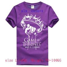 2015 new summer style t shirt men  100%Cotton shirts game of thrones t-shirts