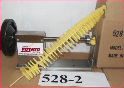 Manual 528-1Tornado Potato Cutter Stainless Steel twist Potato Slicer  China  Patent  Spiral Potato Cutter(with  CE)