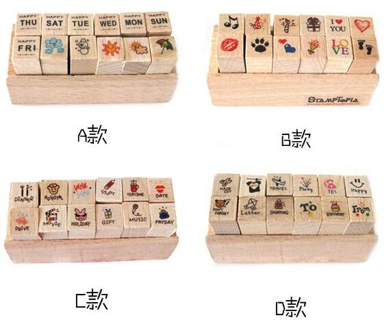 12 pcs/lot DIY Cute Cartoon Cats Flowers Girls Bonsai Wood Stamps for Kids Decor Diary Scrapbooking Gift Free shipping<br><br>Aliexpress