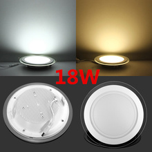 20pcs high quality nice glass led round panel light 18Watt, 90pcs SMD2835 high brightness(China (Mainland))
