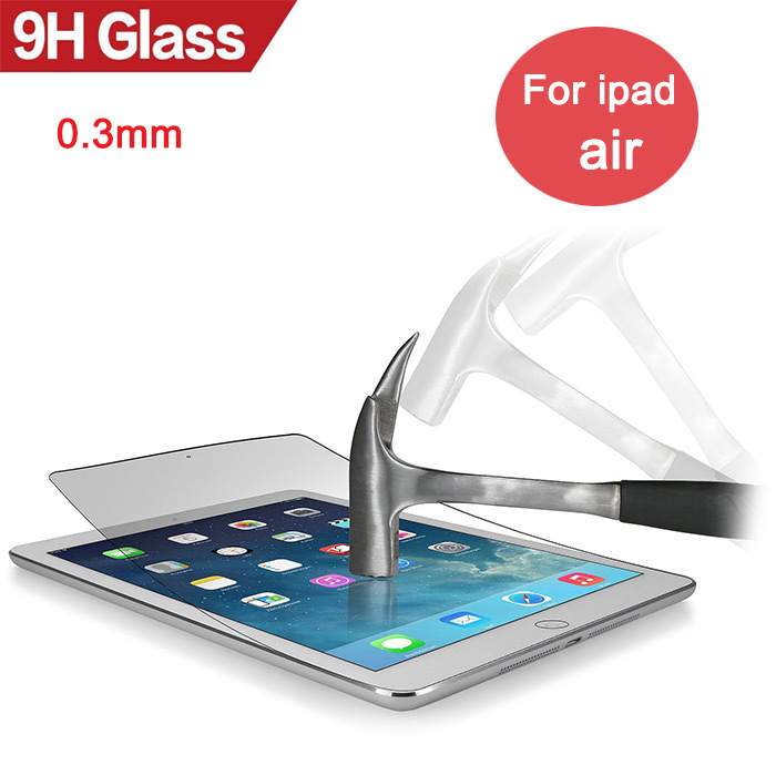 Anti-Explosion Premium Tempered Glass for ipad air 9H Hard Clear Screen Protector 0.3mm for iPad 5 air air1 tablet glass film(China (Mainland))