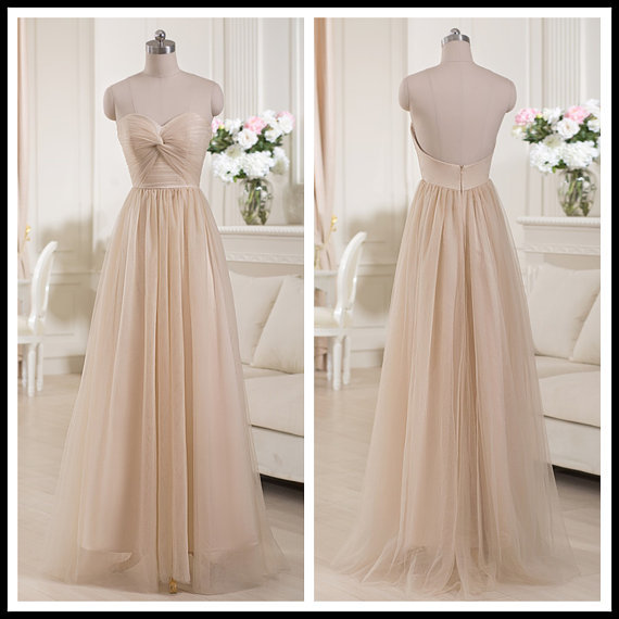 Hot selling champagne a line bridesmaid dresses sweetheart for Made of honor wedding dress