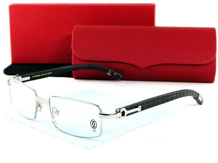 Rimless Glasses Wood Frame : Brand Men Women Carved Wood Frame Glasses Frames Rimless ...